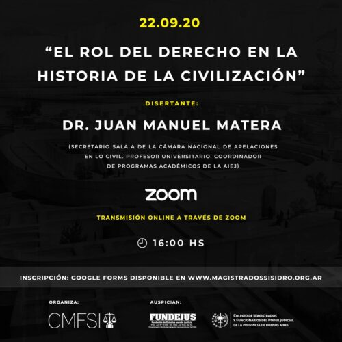 «EL ROL DEL DERECHO EN LA HISTORIA DE LA CIVILIZACIÓN»