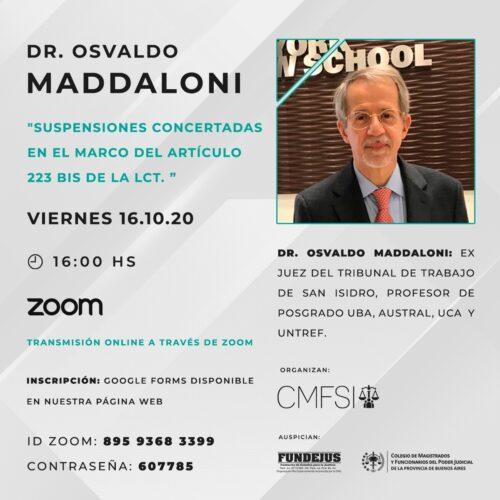 """""""SUSPENSIONES CONCERTADAS EN EL MARCO DEL ARTÍCULO 223 BIS DE LA LCT."""""""