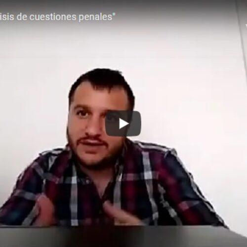 29/10 jornada : «Análisis de cuestiones penales»