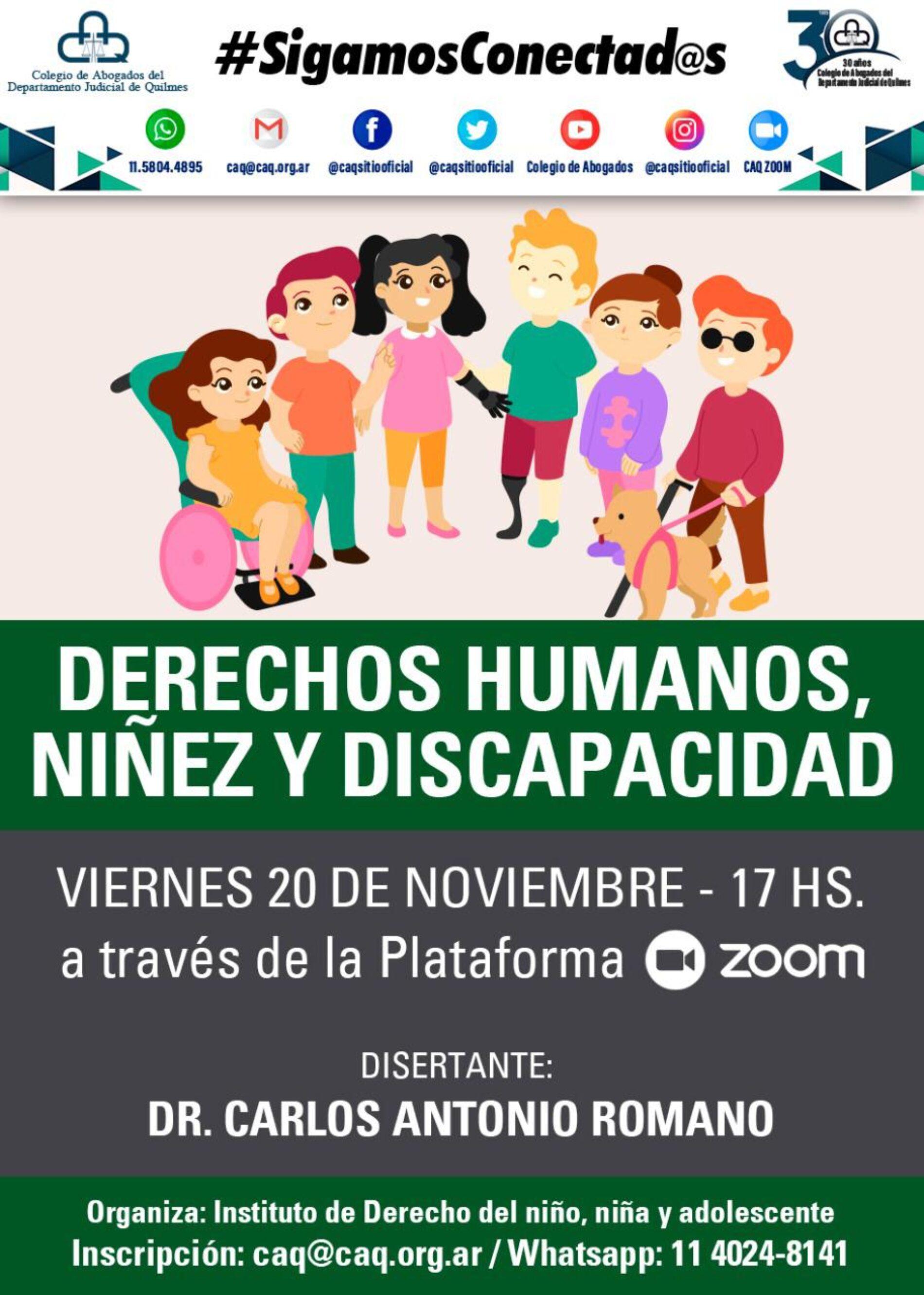 """""""DERECHOS HUMANOS, NIÑEZ Y DISCAPACIDAD"""""""