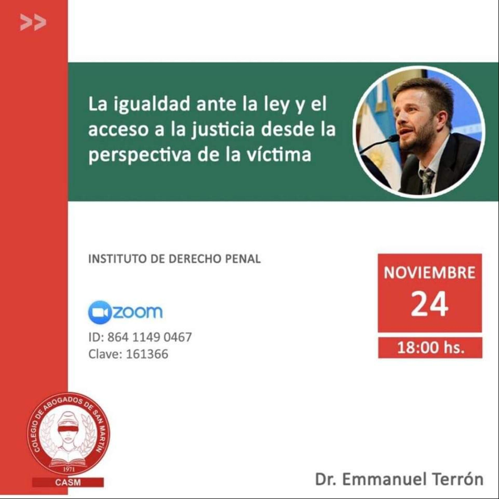 """Jornada """"Igualdad ante la ley y el acceso a la justicia desde la perspectiva de la víctima"""""""