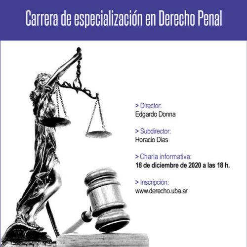 Charla informativa de la Carrera de especialización en Derecho Penal.