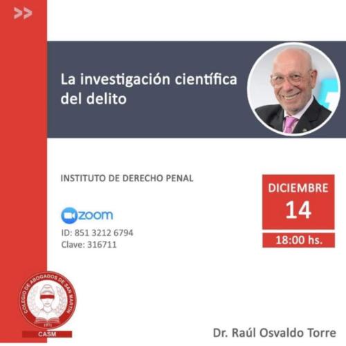 """Jornada """"La investigación científica del delito"""""""