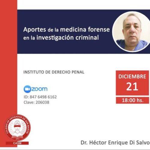 """""""Aportes de la medicina forense en la investigación criminal"""""""