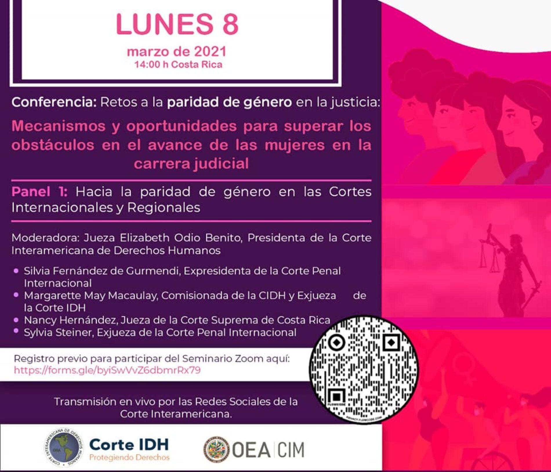 """Programa del Seminario """"Retos a la paridad de género en la justicia: Mecanismos y oportunidades para superar los obstáculos en el avance de las mujeres en la carrera judicial»"""