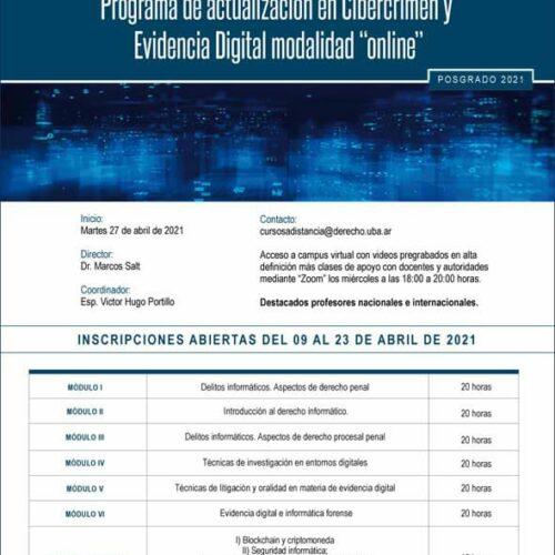 Programa de actualización en Cibercrimen y Evidencia Digital modalidad «online»