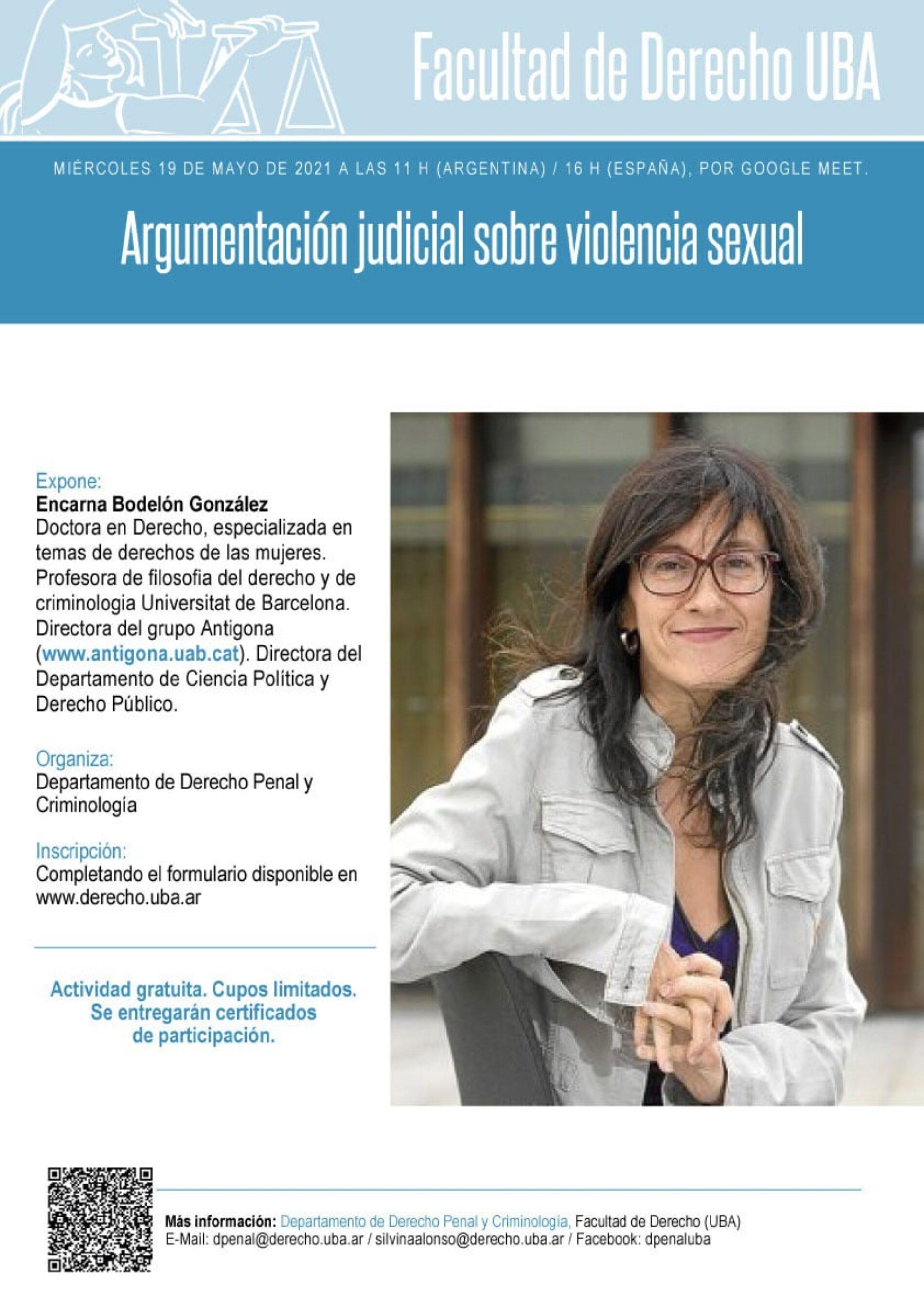 Jornada: «Argumentación judicial sobre violencia sexual»