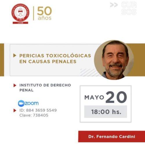 Jornada: «Pericias toxicológicas en causas penales»