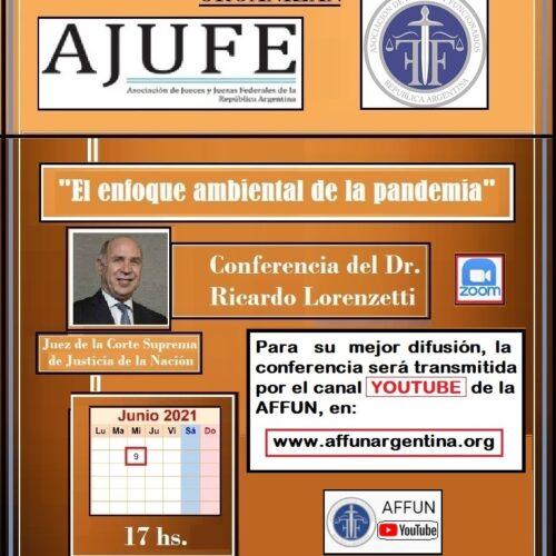 Conferencia: «El enfoque ambiental de la pandemia»