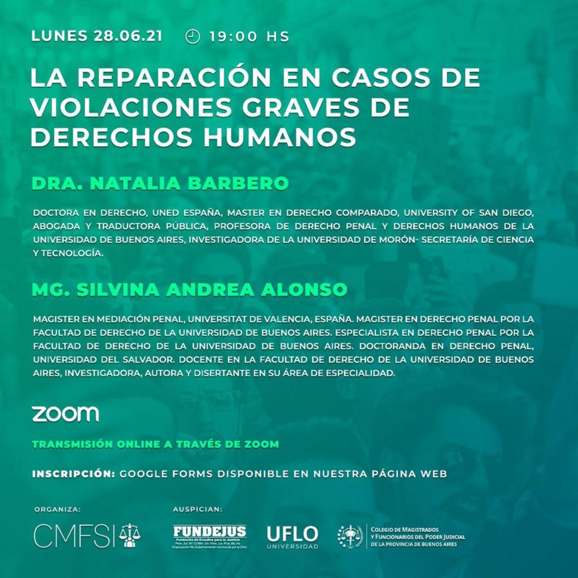 «La reparación en casos de violaciones graves de Derechos Humanos»