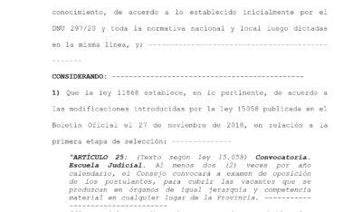 Resolución N° 2675/21 – Consejo de la Magistratura de la Provincia de Buenos Aires.