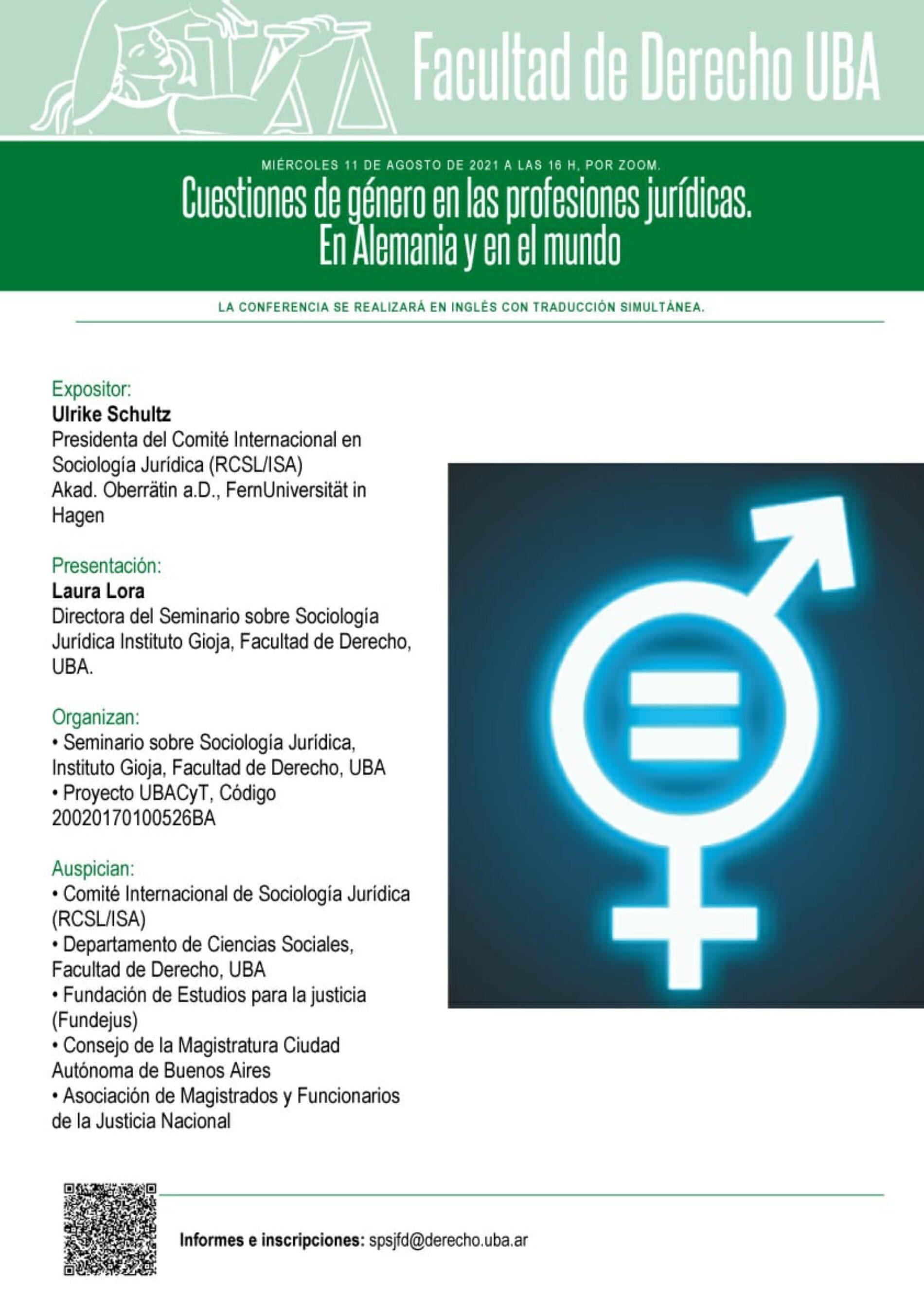 Conferencia: «Cuestiones de género en las profesiones jurídicas. En Alemania y en el mundo»