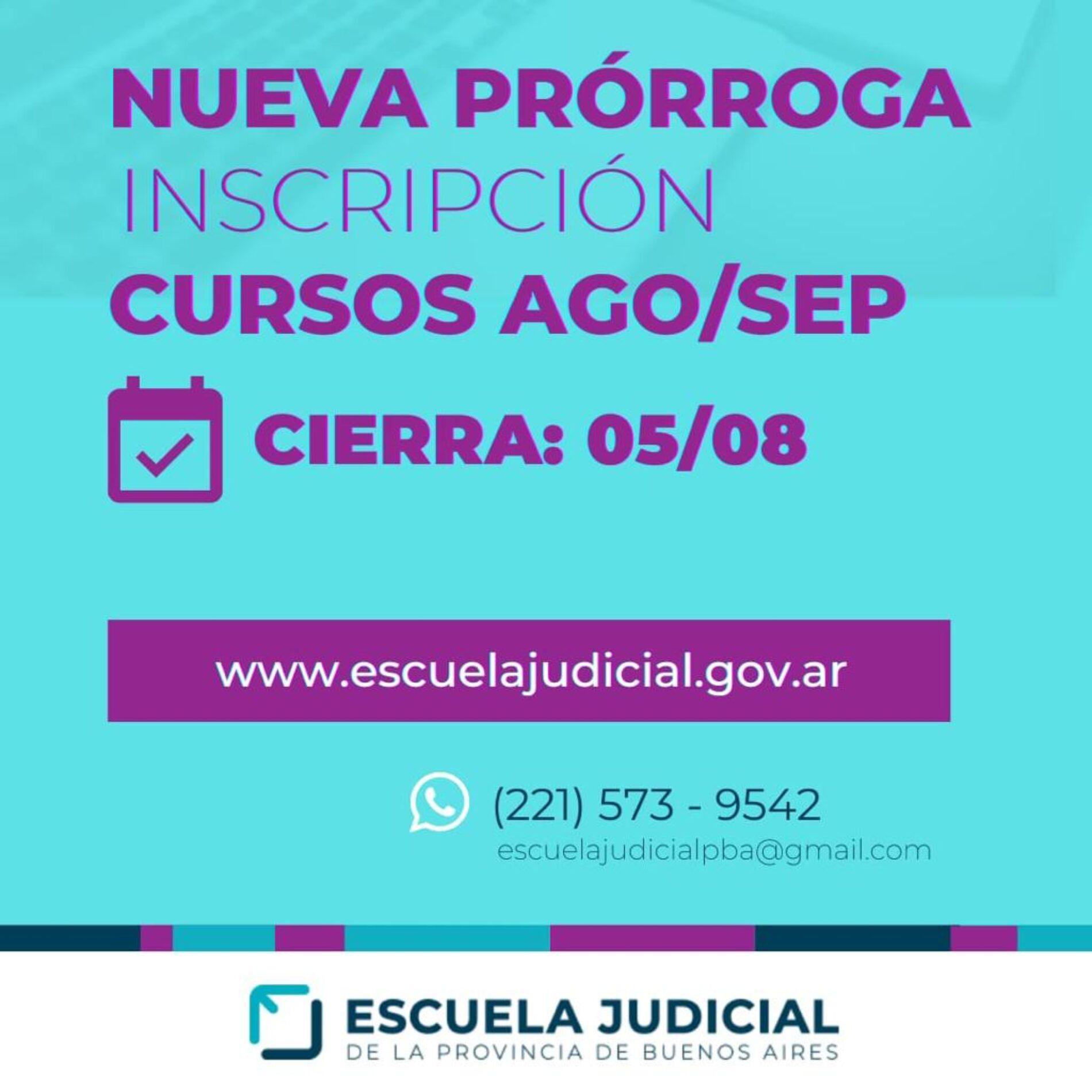 Nueva prórroga del Plazo de Inscripción. Escuela Judicial – Provincia de Buenos Aires.