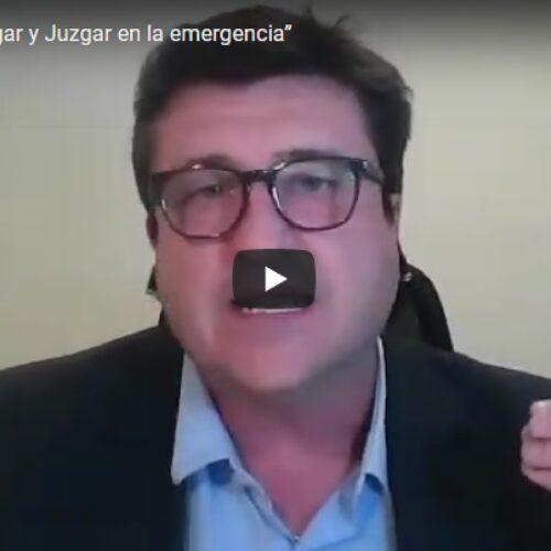 Actividad: «Abogar y Juzgar en la emergencia»