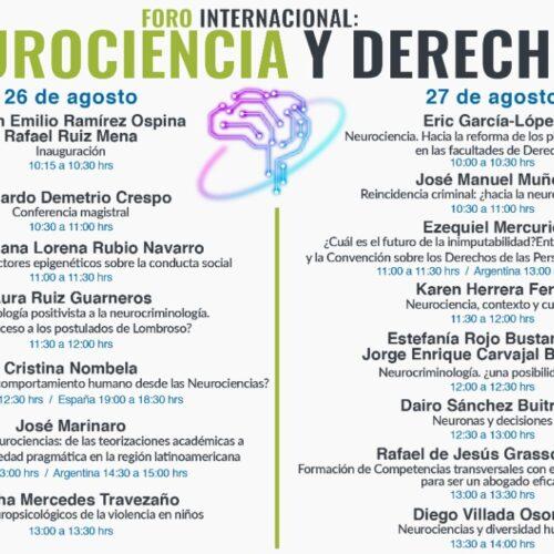 Foro internacional: «NEUROCIENCIA Y DERECHO»