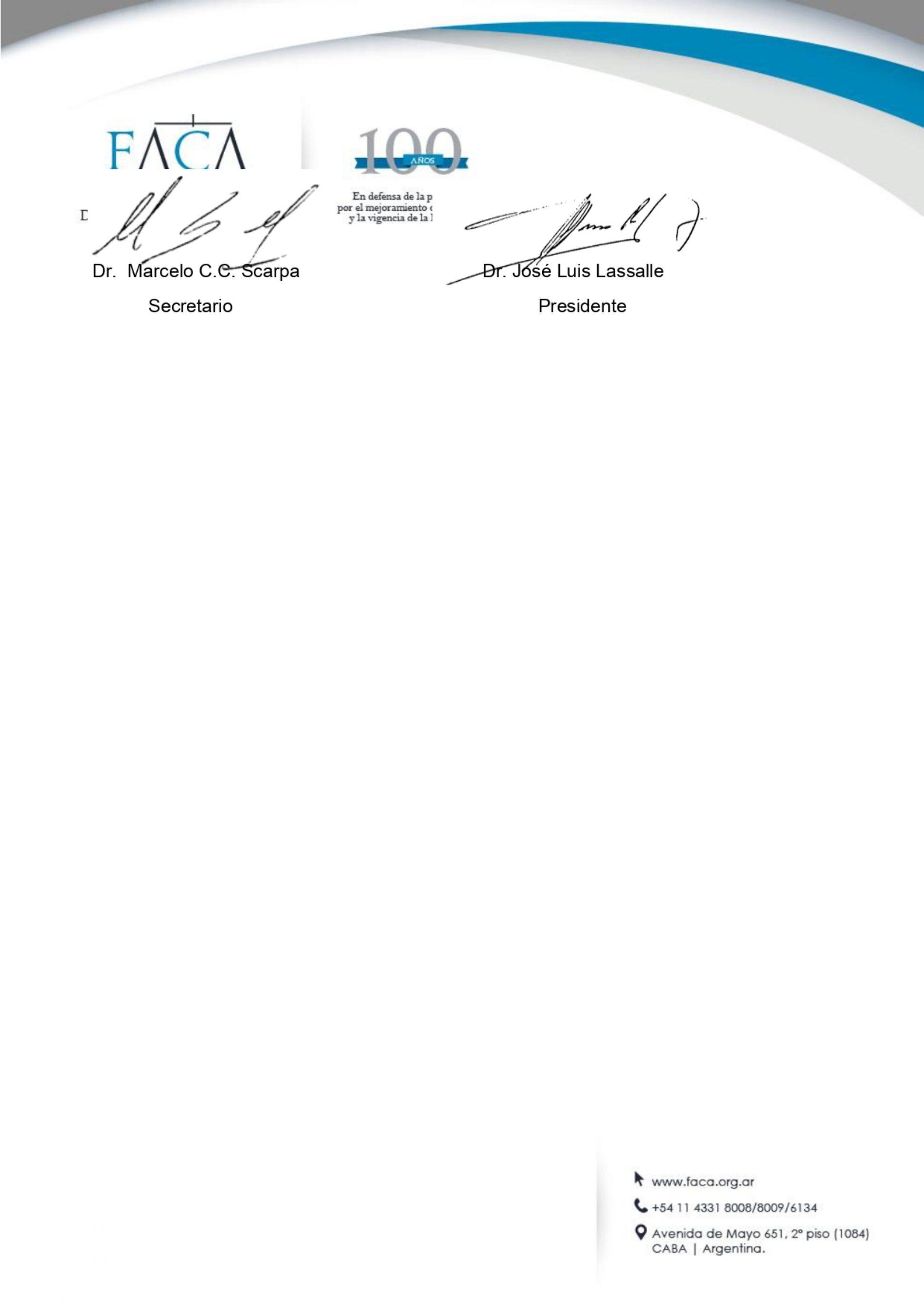 Declaración de interés – F.A.C.A – Actividad: «Bases y desafíos del nuevo Código Procesal Penal Federal».