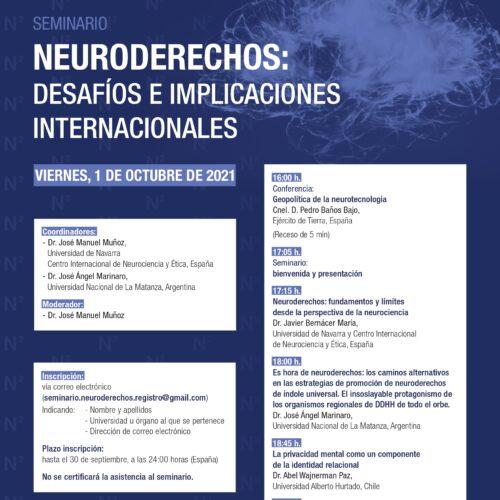Seminario: «Neuroderechos: desafíos e implicaciones internacionales»