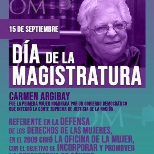 15 de septiembre: Día de la Magistratura y la Función Judicial.