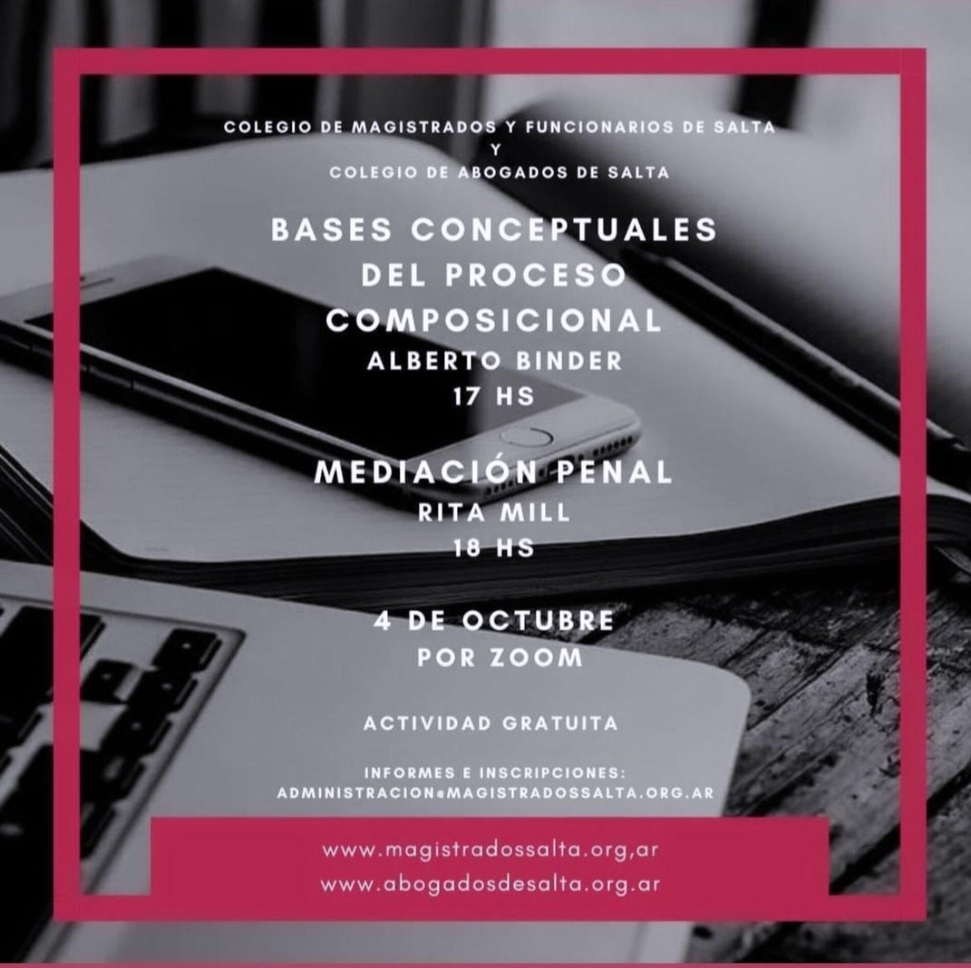 Capacitación gratuita organizada por el Colegio de Magistrados y Funcionarios de Salta y el Colegio de Abogados y Procuradores de Salta